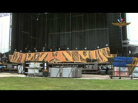 Indianapolis Motor Speedway Rolling Stones Zip Code Tour Stage Construction