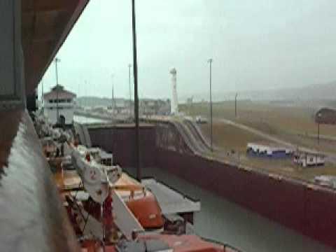 Panama Canal Zuiderdam transit thru 1 lock