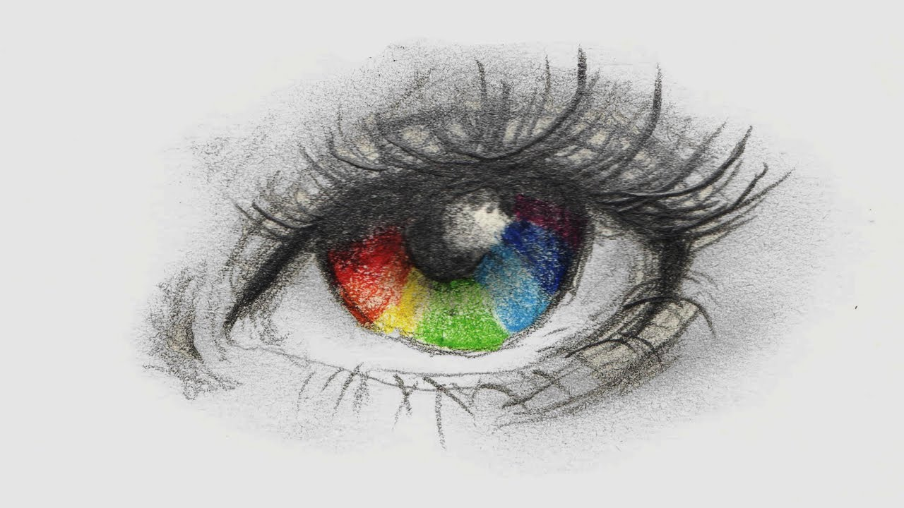 Como Colorir Olho Arco íris