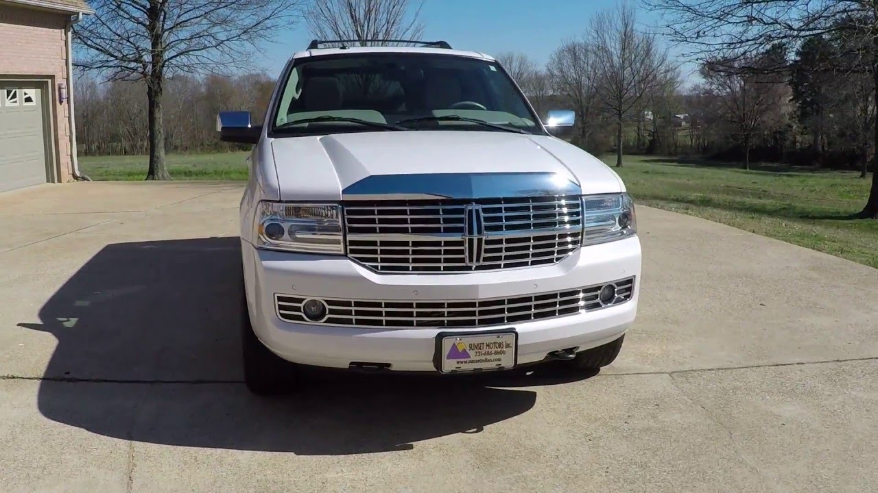 hd video 2012 lincoln navigator l pearl white nav tv for sale info www sunsetmotors youtube. Black Bedroom Furniture Sets. Home Design Ideas