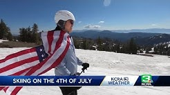 Fourth of July skiers hit Sierra slopes in style
