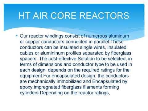 HT Air Core Reactors, Manufacturer, Exporter, Supplier, Importer, India