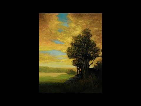 Golden Dusk 8×10 Redo Tonalist Landscape Oil Painting Demonstration