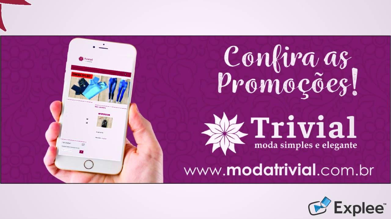 75990c413 Facebook TRIVIAL - Loja Virtual de Roupas Femininas - YouTube
