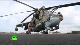 ВКС РФ Сирия Латакия! Боевые вертолеты России совершают вылеты Новости 2015