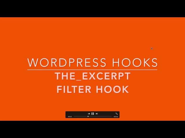 WordPress Filter Hook the excerpt Part-36 Example