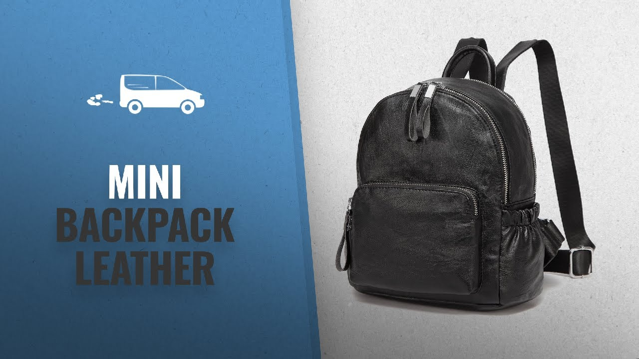 Top 10 Mini Backpack Leather  2018   VASCHY Women Backpack d56ced7be795e