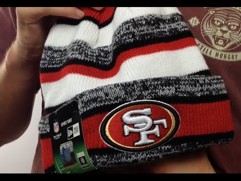 0ad88d8485f 49ers  2014 STADIUM  Knit Beanie Hat by New Era - YouTube