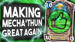 Making MECHA'THUN Great AGAIN! |  Mecha'thun Warlock | Descent of Dragons | Hearthstone