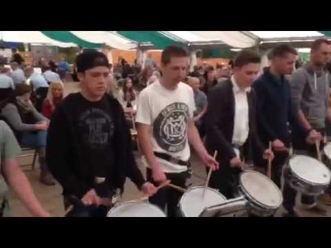 Trommelsolo beim Schützenfest Meschede-Nord