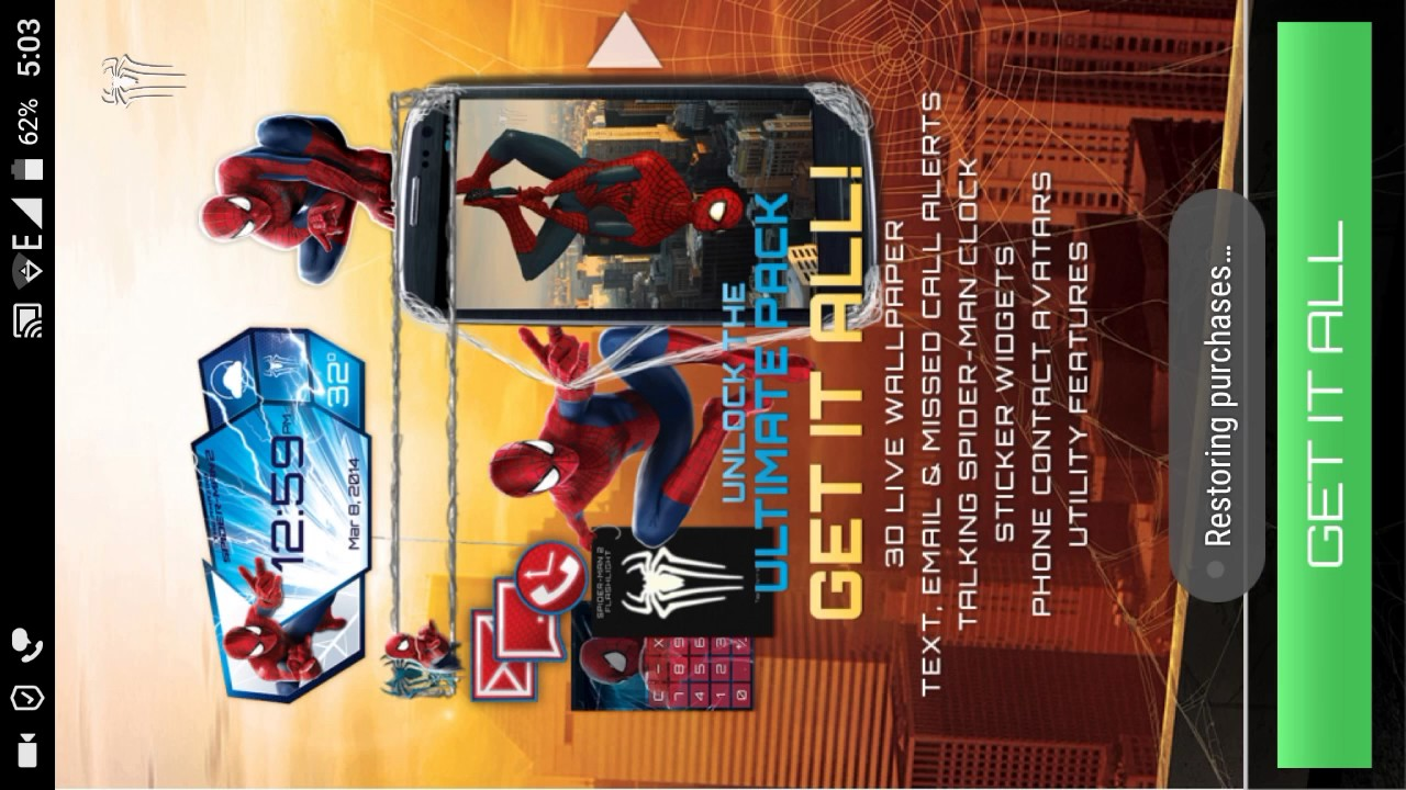 How To Unlock All Features Of Amazing Spider Man Live Wallpaper By