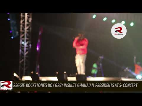 Reggie Rockstone's boy Grey insults Ghanaian presidents at S-Concert