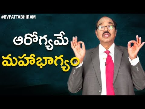 How Long Are you Going to LIVE ? | Health is Wealth | BV Pattabhiram About Behavior & Attitude