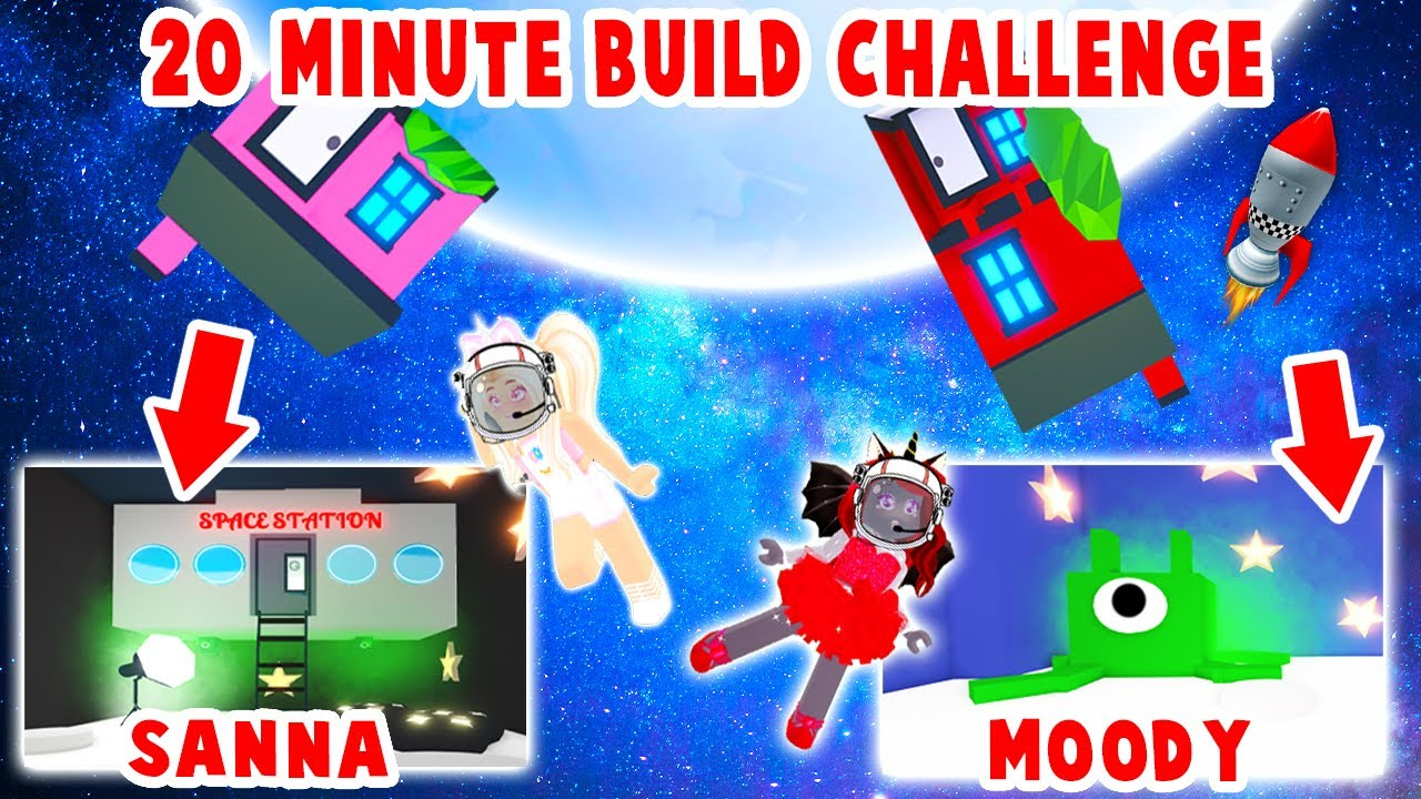 20 Minute SPACE BUILD Challenge With My BEST FRIEND In Adopt Me! (Roblox)