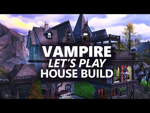 The Sims 4 House Building | VAMPIRE LET'S PLAY HOUSE| 1/2