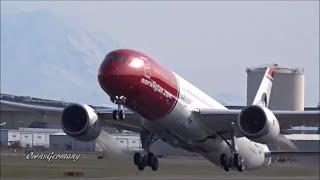 1st Norwegian Boeing 787-9 Dreamliner Delivery Flight Feat. Greta Garbo @ KPAE Paine Field