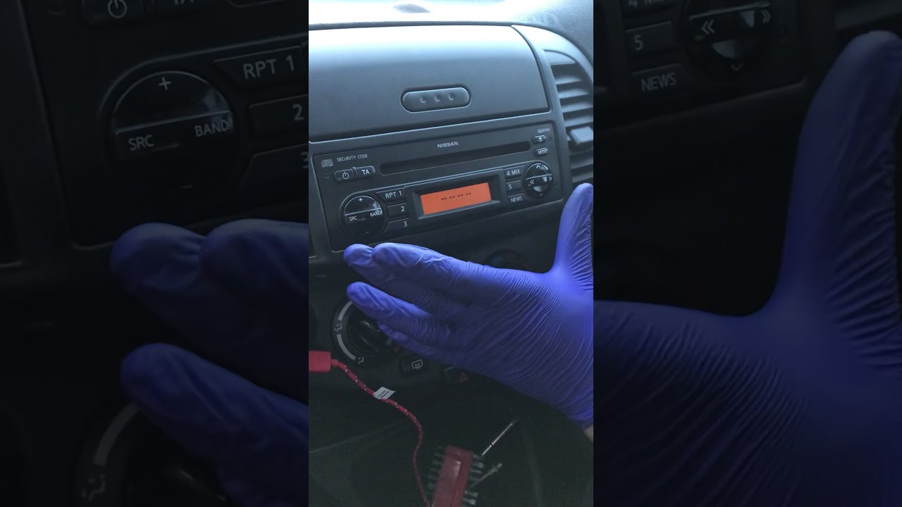 HOW TO ENTER CAR RADIO CODE IN NISSAN MICRA