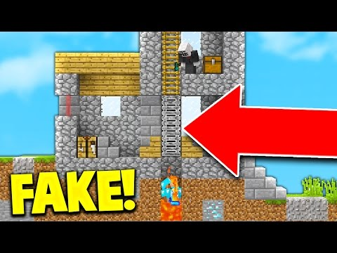 THE BEST FAKE LADDER TROLL! (Minecraft Skywars Trolling) - Видео из Майнкрафт (Minecraft)