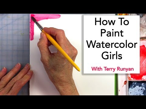 How To Paint Watercolor Girls
