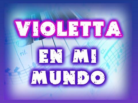 EN MI MUNDO  con letra en español VIOLETTA
