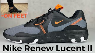 Nike RENEW LUCENT II 'blk/total orange' | UNBOXING & ON FEET | fashion sneaker | 2021