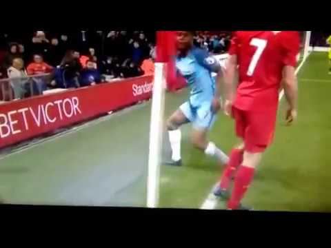 Sterling hit Milner leg