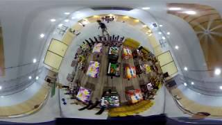 FIREWORKS IN 360 FROM A DRONE - Virtual Reality