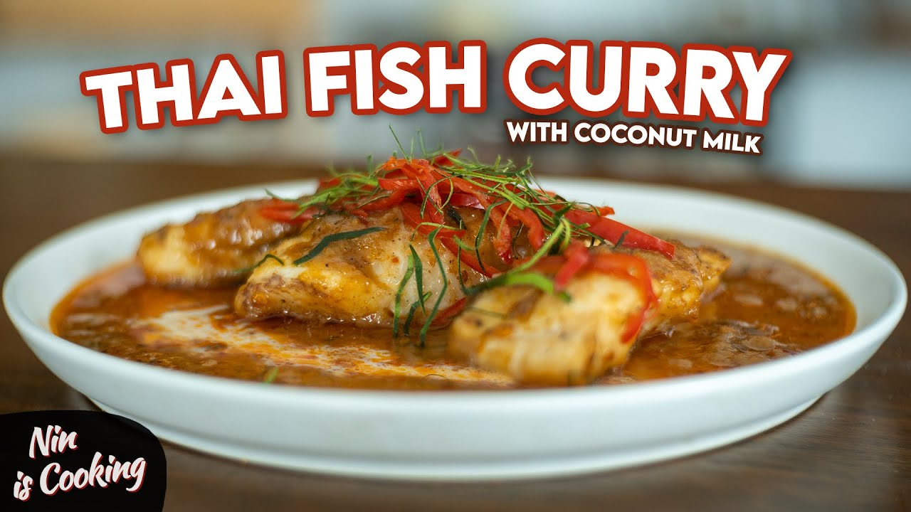 Download How to make a RICH & CREAMY Thai Fish Curry with Coconut Milk