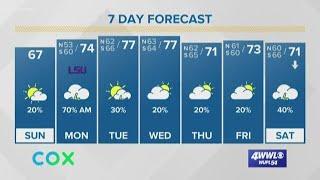 Payton's Sunday Morning Forecast: Clouds and rain return Sunday night