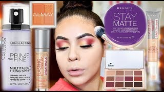 NEW DRUGSTORE MAKEUP 2018: FULL FACE FIRST IMPRESSIONS + ALL DAY WEAR TEST! | JuicyJas
