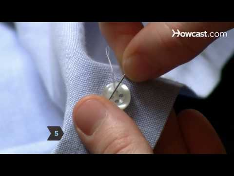 How to Sew a Button by Hand