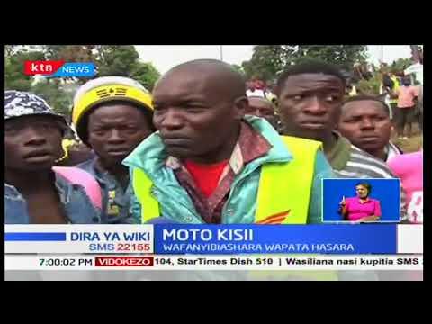 Wafanyibiashara Kisii wapoteza milioni ya pesa baada ya moto kuteketeza vibanda