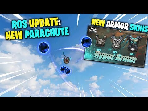 ROS UPDATE: NEW Parachute | First Ever Armor SKINS (Rules Of Survival