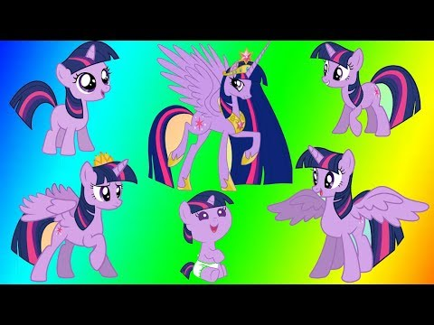 My Little Pony Transforms - Princess Twilight Sparkle - MLP Coloring Video for Kids Mystery Toys