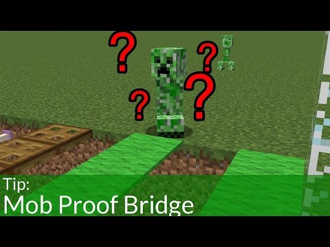How To Make A Mob Proof Bridge In Minecraft
