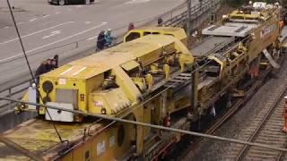 Gleisbauzug in Aktion - Remsbahn Waiblingen - Grunbach