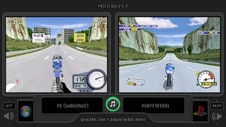Moto Racer 2 (Pc vs Playstation) Side by Side Comparison | Vc Decide