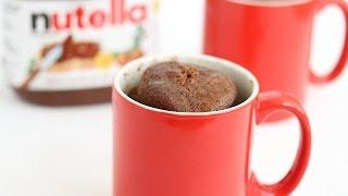 How To Make 5 Minute Nutella Mug Cake