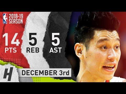 Jeremy Lin Full Highlights Hawks vs Warriors 2018.12.03 - 14 Pts, 5 Ast, 5 Rebounds!