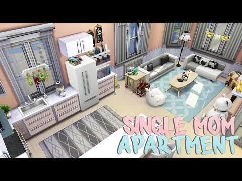 SINGLE MOM APARTMENT 💕 | The Sims 4 | Apartment Renovation Speed Build