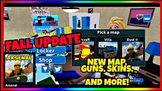 ROBLOX ARSENAL FALL UPDATE 2019! GUNS, SKINS, AND MORE!!