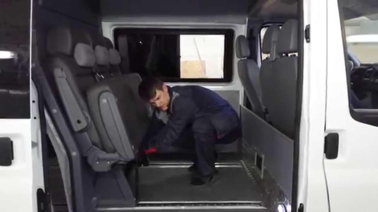 Переоборудование Форд Транзит в грузопассажир в БасКомплект