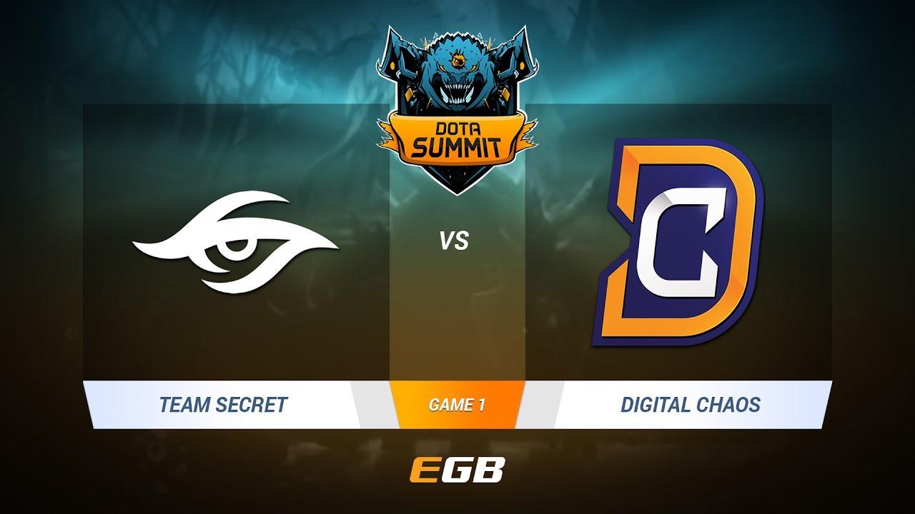 Team Secret vs Digital Chaos, Game 1, DOTA Summit 7 LAN-Final, Day 2