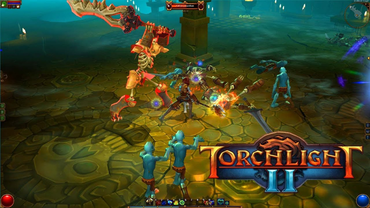 Torchlight II - Gameplay PC Co-op Campaign - Engineer & Embermage - YouTube