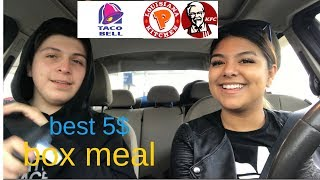 BEST 5 DOLLAR MEAL BOX REVIEW (TACOBELL,KFC,POPEYES)