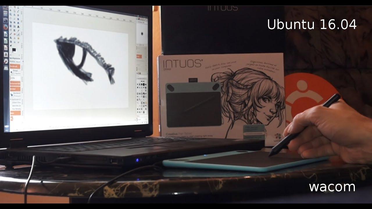 Ubuntu 1604 Wacom Tablett Intuos Draw Gimp Youtube Ctl 490
