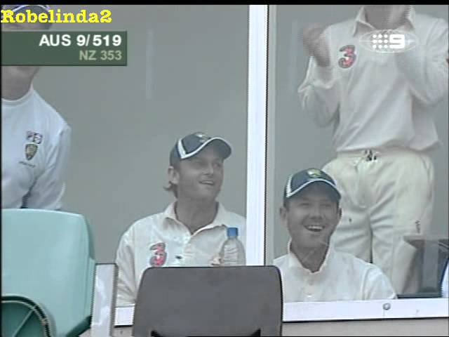 Cricket MIRACLE...not to be believed, Glenn McGrath hits a six, I am serious