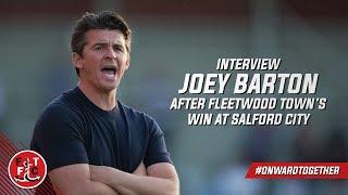 Joey Barton on Salford City win   Post Match