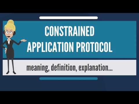 What is CONSTRAINED APPLICATION PROTOCOL? What does CONSTRAINED APPLICATION PROTOCOL mean?