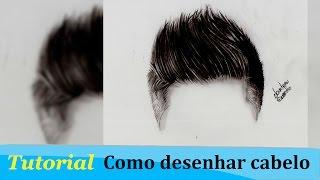 Tutorial #1 How to draw Realistic Hair / Como desenhar cabelo realista